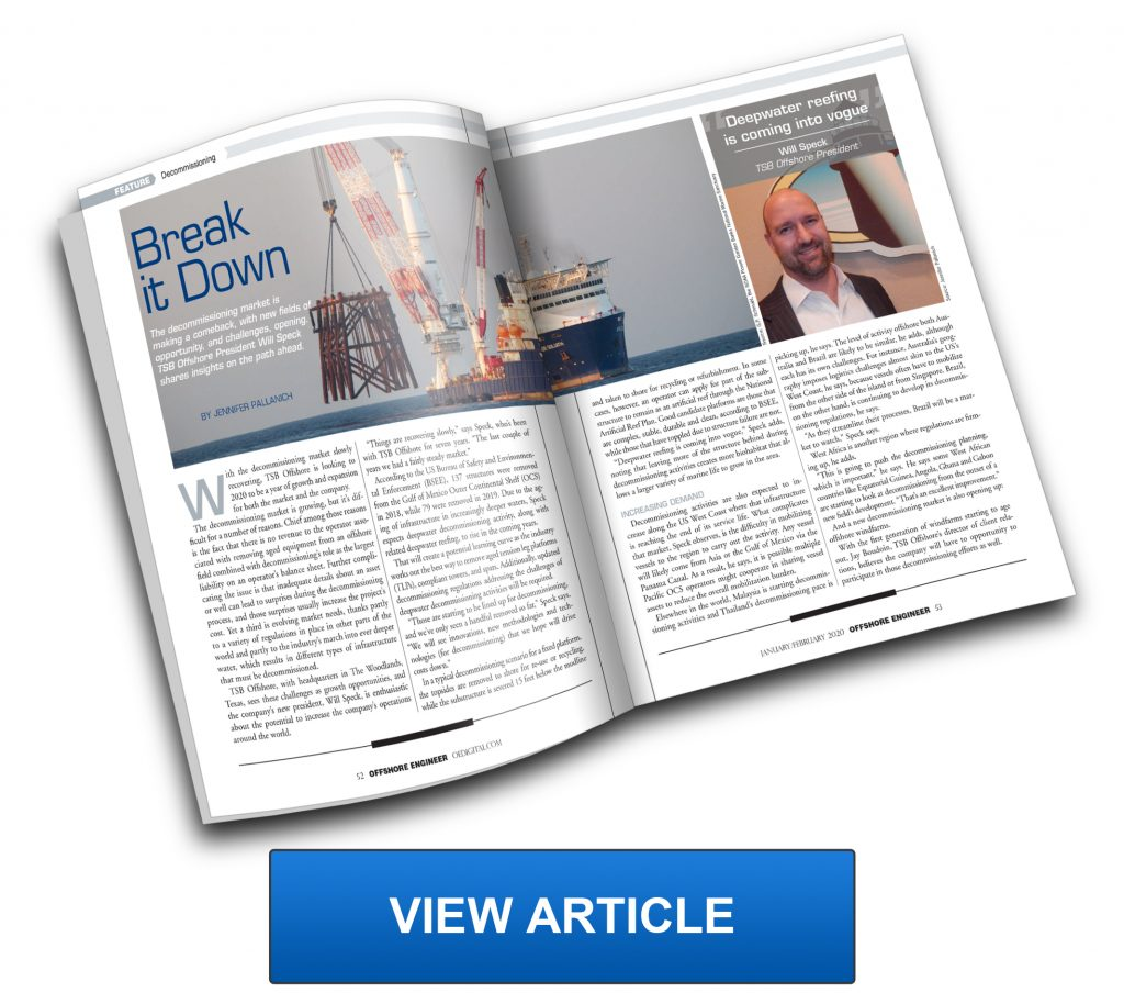 TSB Offshore OE Offshore Engineer Article